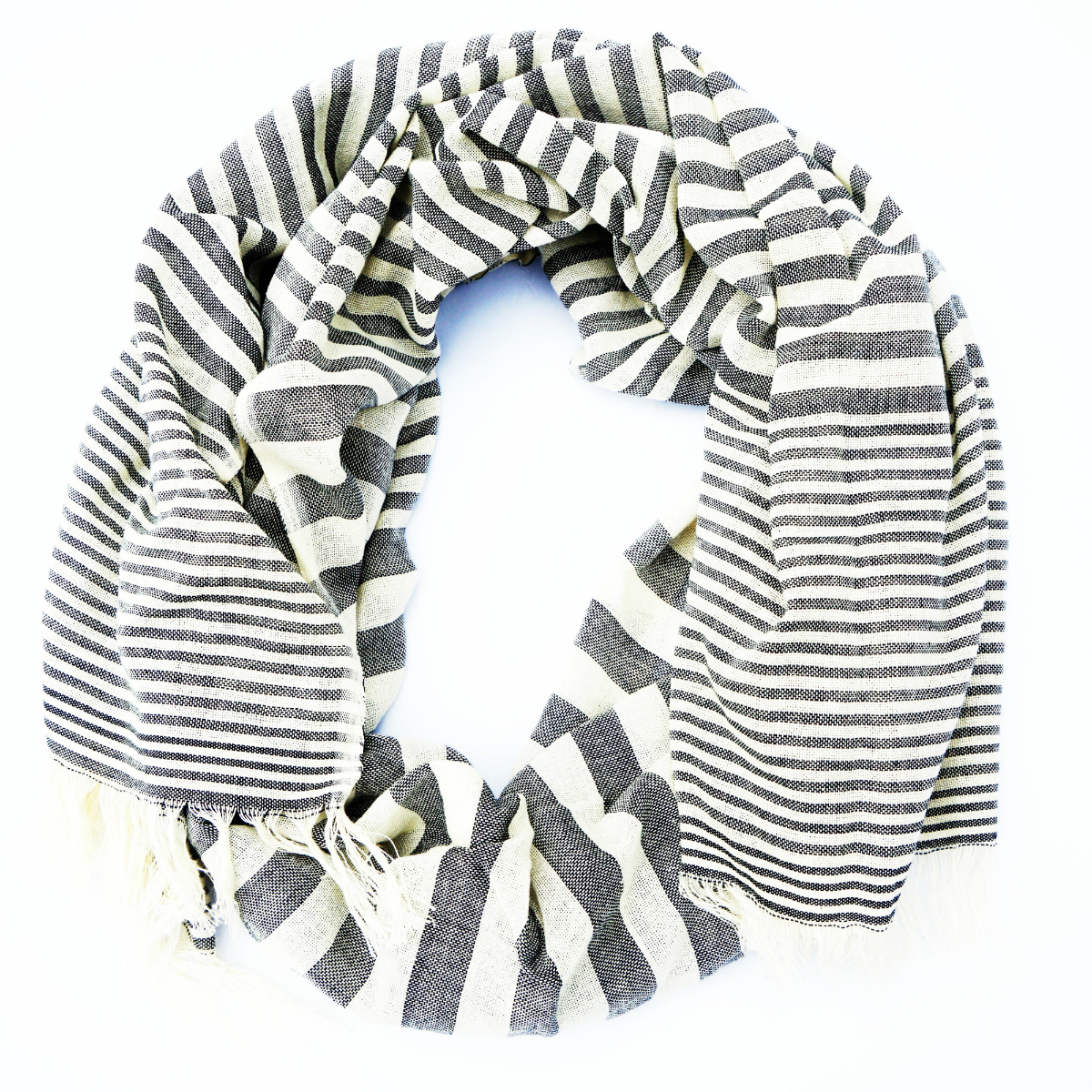 natural dyed cotton scarf